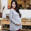 Otoño Invierno de Maternidad Embarazada Tops de Algodón Embarazo Camiseta Básica Ropa de Maternidad Ropa de Manga Larga Para Las Mujeres Embarazadas