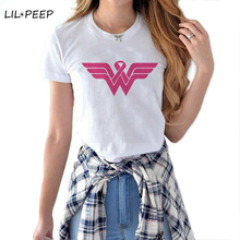 Wonder Woman Logo T-shirt Lovelty Cartoon Funny DC Shirt Fem