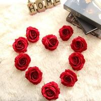 2017 New 10PCS Wedding decoration 10cm Flannelette Artificial Flower Silk Rose Flower Head buds marriage party decoration