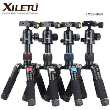 XILETU FM5S-MINI Lightweight Alluminum Tripod Tabletop Mini Travel Stand Tripod with 360 Degree Ball Head For Digital Camera