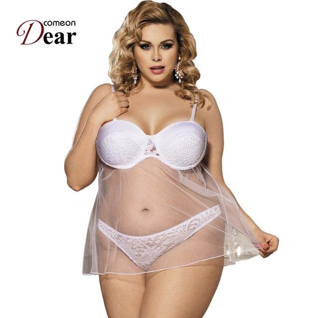 Comeondear Hot Sexy Lingerie Porno Transparente Vestido Mas Tamano Badydol Lenceria Sexi Para Mujer Rk80286