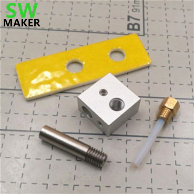 US $8 09 10% OFF|SWMAKER CTC MK8 EXTRUDER hotend kit 0 4mm marked Nozzle  ptfe tube throat ceramic block for FOR CTC BIZER REPLICATOR 3D printer -in  3D