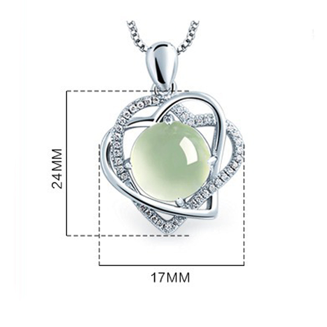 Utimtree Silver Cubic Zirconia Heart Pendant Necklace