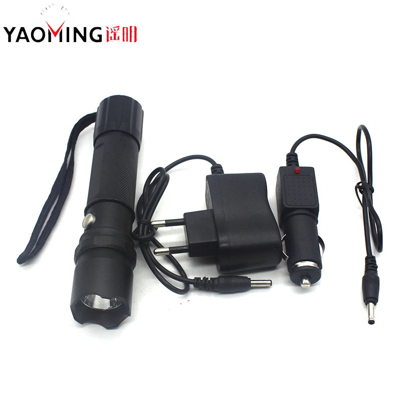 Police flashlight cree q5 waterproof cree led linternas rechargeable outdoor camping lamp torch light with charger