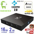 X96 1G 8G/2g 16g S905X Amlogic Quad Core tv box 4 K Kodi android 6.0x96 Reproductor Multimedia tv box 2g 16g Malvavisco kodi tv cajas