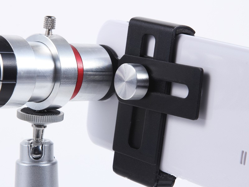 ORBMART Universal 16X Zoom Telescope Camera Mobile Phone Lens + Mini Tripod + Adjustable Clip For Samsung iPhone Redmi Note 6