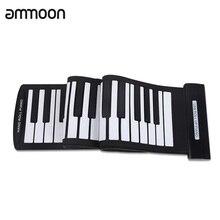 ポータブル 61 キーロールアップピアノusb midiキーボードミディconctrollerハンド電子ピアノ
