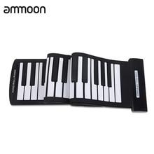 Tragbare 61 Tasten Roll Up Klavier USB MIDI Tastatur MIDI Conctroller Hand Elektronische Klavier