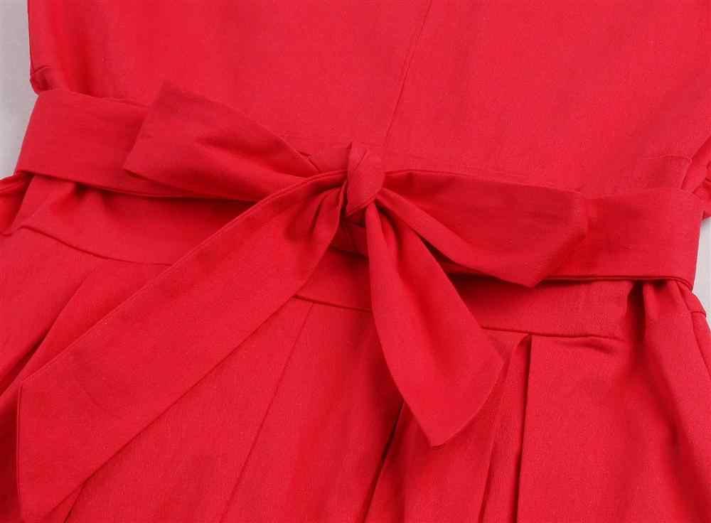 Летнее женское платье, элегантный винтажный сарафан-туника, сексуальное офисное вечернее платье с v-образным вырезом, плюс размер, летнее плиссированное платье миди