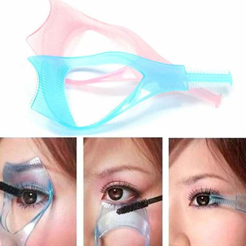 523e1213a5d Curler Mascara Guide Applicator Lash Guard Eyelash Curling Comb 3 in 1  Mascara Eyelash Applicator Guide
