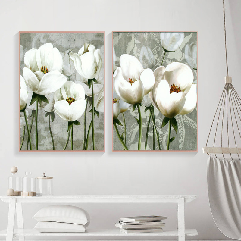 spray painting canvas poster print picture for living room retro classic wall art painting flowers home decor no frame PD2575