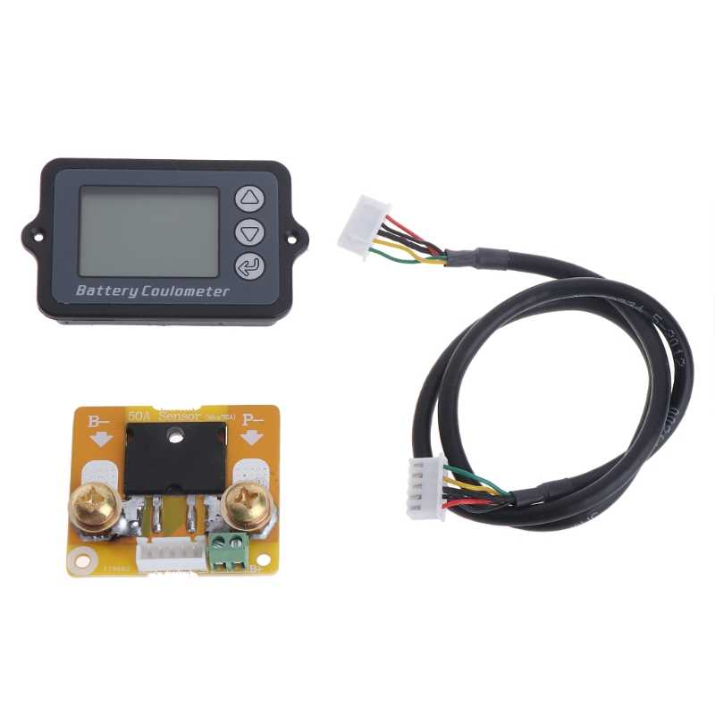 DC 8-80V 50A Battery Coulometer TK15 Battery Tester for LiFePo Coulomb Counter L15