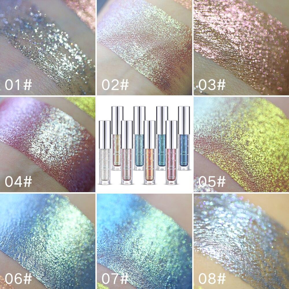 Beauty Essentials Ucanbe Brand Holographic Metallic Duochrome Eye Shadow Glow Glitter Shiny Eyeshadow Pigment Waterproof Liquid Eye Shadow Makeup