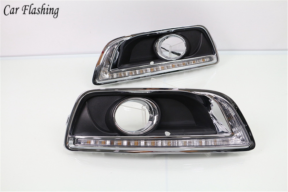 2PCS For Chevrolet Chevy Malibu 2012 2015 Driving DRL with turn signal Daytime Running Light fog lamp Relay Daylight car styling-in Car Light Assembly from Automobiles & Motorcycles    3