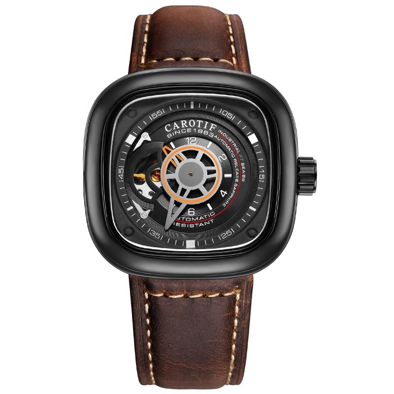 Carotif casual læder mekanisk ure - Mænds ure - Foto 4