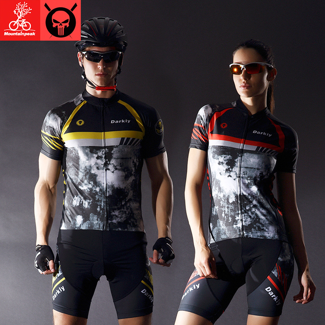 Mountainpeak Summer Cycling Clothing 2017 Professional Elastic Breathable MTB Bicycle Sports wear Cycling Jersey Short Sleeve