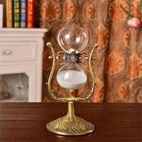 1 שעה מתכת עתיקה סיבוב שעון חול שעון חול 60 דקות חול טיימר Flip 30 ס