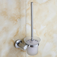2016 Modern Bathroom Accessories Stainless Steel Fashion Toilet Brush Set Creative Modern Toilet Bowl Toilet Cleaning