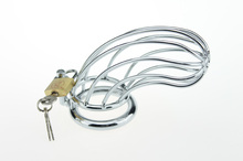 Stainless steel metal cock lock chastity toy for sissies and crossdressers 40/45/50mm