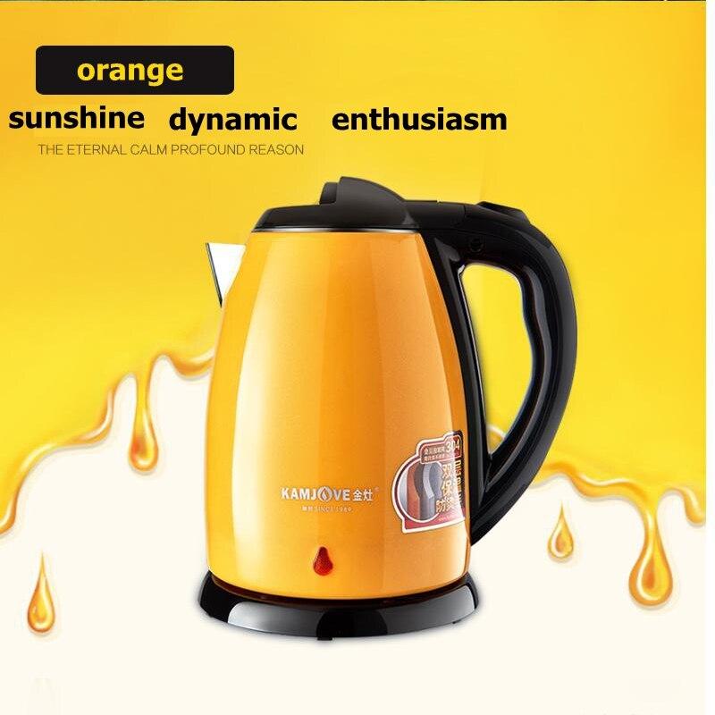 KAMJOVE нержавеющая сталь высокая мощность Электрический чайник сохранение тепла Электрический чайник Автоматическое отключение питания дво...