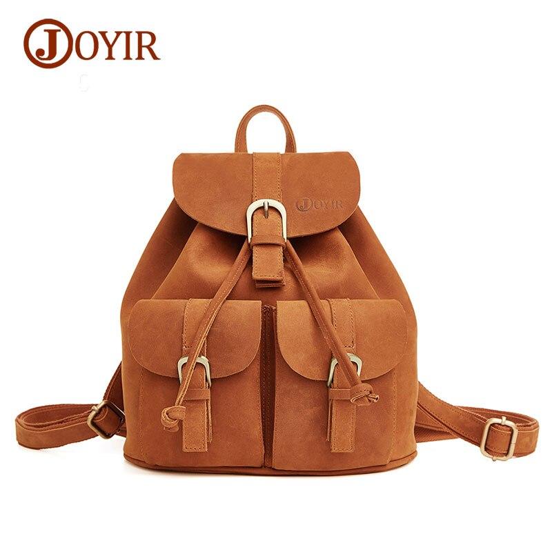 Joyir new 2017 real soft genuine leather women <font><b>backpacks</b></font> woman school bags for girl ladies laptop bag daily <font><b>backpack</b></font> 8627