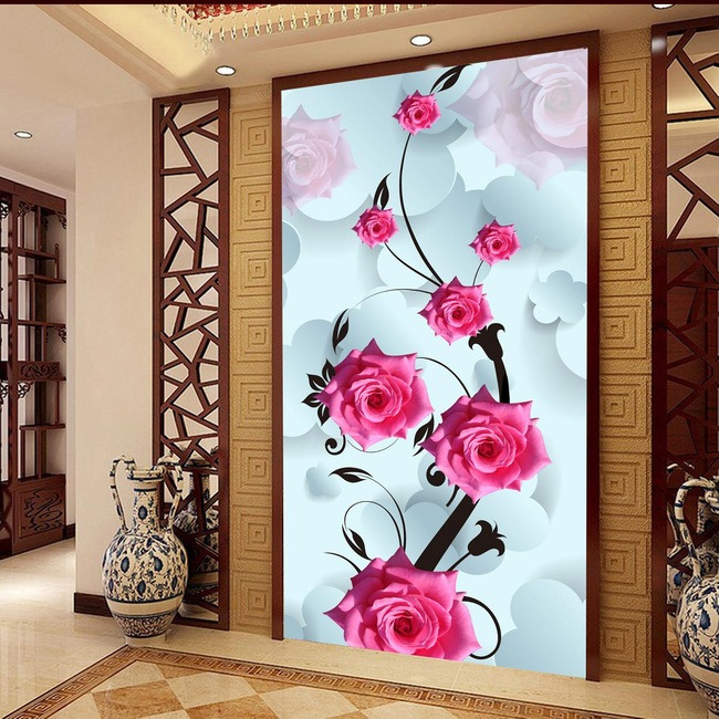beibehang Wall paper roll photo murals wall decoration painting wall paper mural 3d wallpaper for living room papel de parede 3d custom 3d stereo wallpaper murals window outside european scenery living room tv wall decoration painting papel de parede 3d