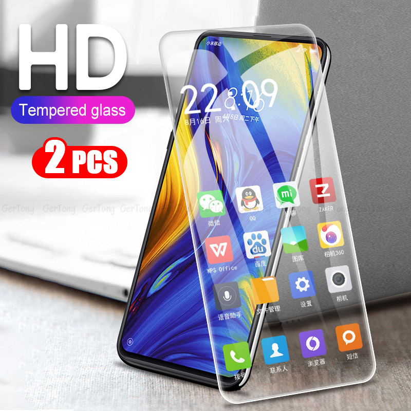 2 Pack Tempered Glass For Xiaomi Mi Max 3 Mix2 Mix3 9 8 se Lite Play Screen Protector Redmi 6A 5Plus Note 7 6 5 Pro Safety Glass