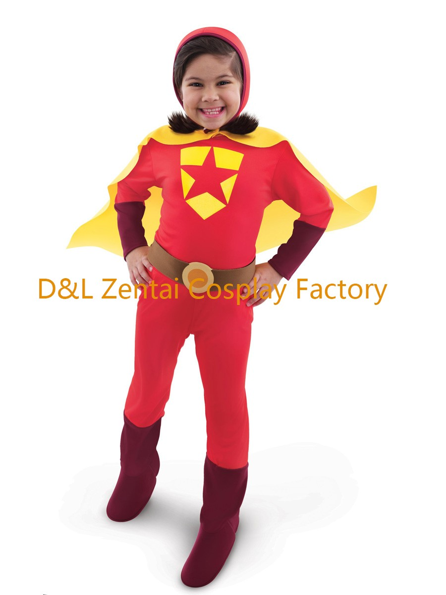 free shipping dhl halloween full body red word girl superhero