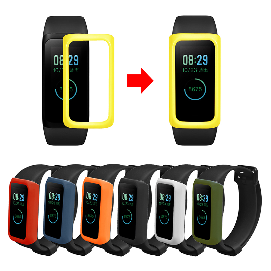 PC Case Cover for <font><b>Xiaomi</b></font> <font><b>Amazfit</b></font> <font><b>Cor</b></font> <font><b>2</b></font> Smart Bracelet Colorful Frame Cover for <font><b>Amazfit</b></font> <font><b>Cor</b></font> <font><b>2</b></font> Accessories image