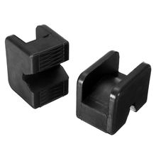 Protect Support Pads Lifting jack Replacement Accessories Car Slotted Guard Black 63*44*50mm 1 Pair Practical