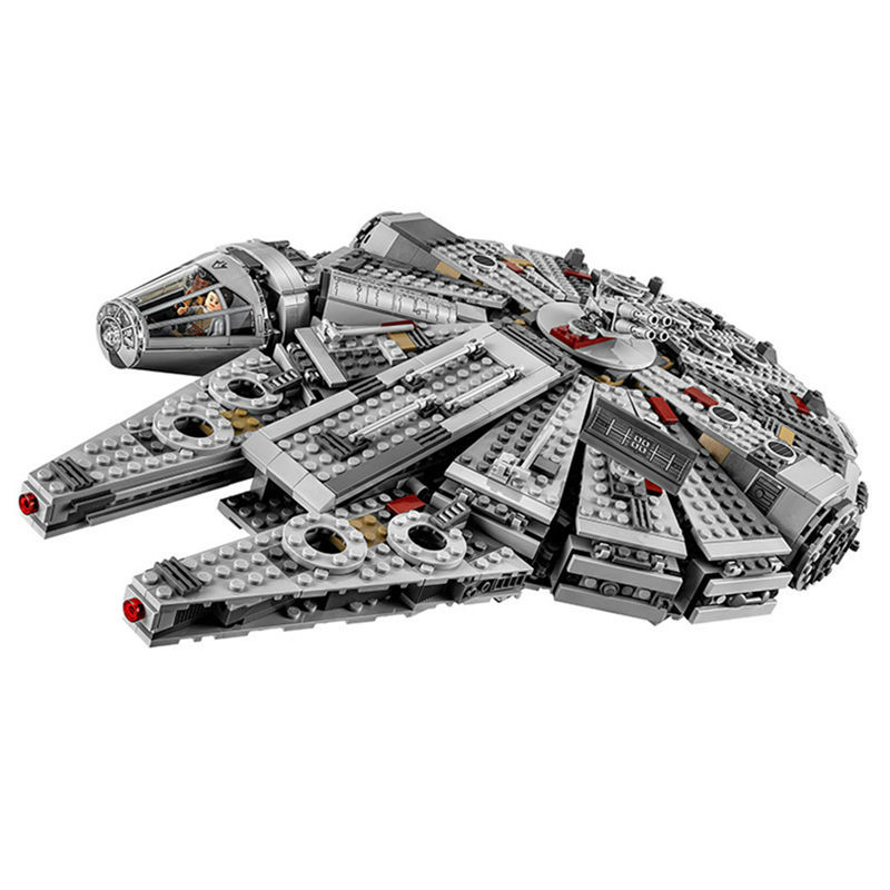 1381pcs Lepin 05007Star War Building Blocks Force Awakens Millennium Falcon Model Kits Rey BB-8 10467 compatiable 05030toys new 5265pcs star wars ultimate collector s millennium falcon model building kits blocks bricks kids toys compatible with 10179