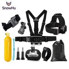 цена на SnowHu for Gopro Accessories set tripod for go pro hero 8 7 6 5 4 kit mount for SJCAM SJ4000 for xiaomi yi 4k for eken h9 GS22