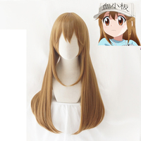 Hataraku Saibou Cosplay Wig Cells At Work Blood Platelet PLT Long Straight Synthetic Hair for Adult
