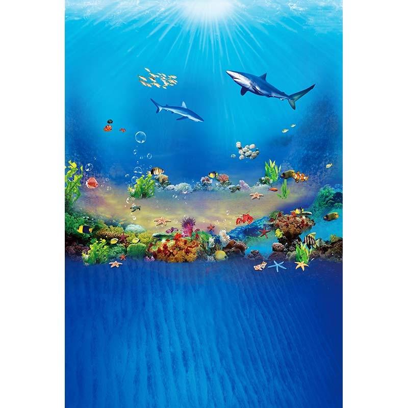 Fantastic deep sea fish photography backdrop vinyl background for photo studio portrait photography background props photophone edt 2 1 5m fantastic pink flower street studio photography props backdrop background