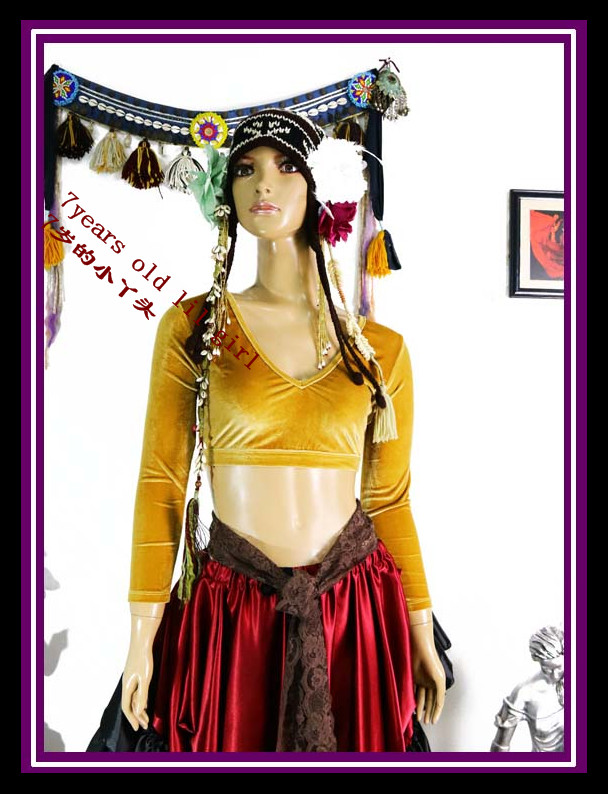 Velvet Fat Chance Tribal Choli Belly Dance Long Sleeve Top FA28-FA33