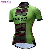 Mujeres Roupa Ciclismo Superior Jersey de Ciclo Verde Transpirable Deportes Al Aire Libre