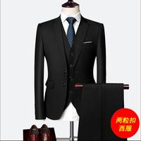 M 6xl 2020 New Men's Three piece Suits Autumn Korean Of The Self cultivation Small Suits Man Groom Wedding Dress Large Size