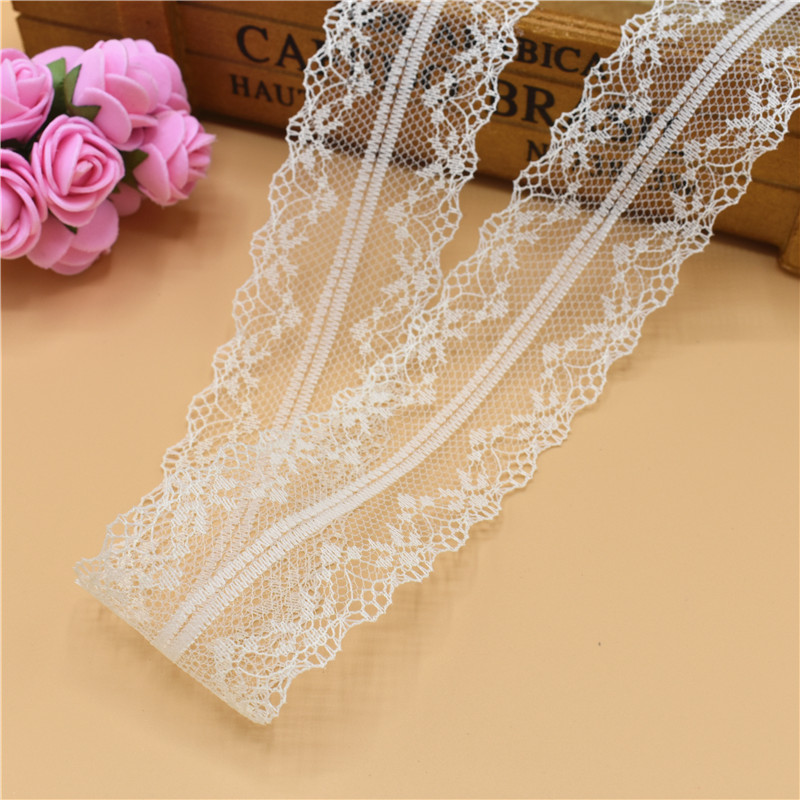 Beautiful 10 Yards Lace Ribbon DIY Embroidered Net Lace For Sewing Decoration
