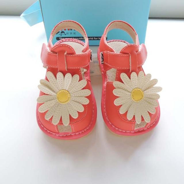 2017 omn verano pequeña margarita linda de los bebés zapatos únicos zapatos del niño sólido 6005ph