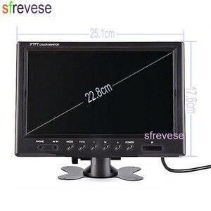 """Image 4 - 4x 4pin 18 led ir visão noturna invertendo estacionamento backup câmera + 9 """"lcd 4ch split monitor para ônibus caminhão motorhome 12 v 24 v"""