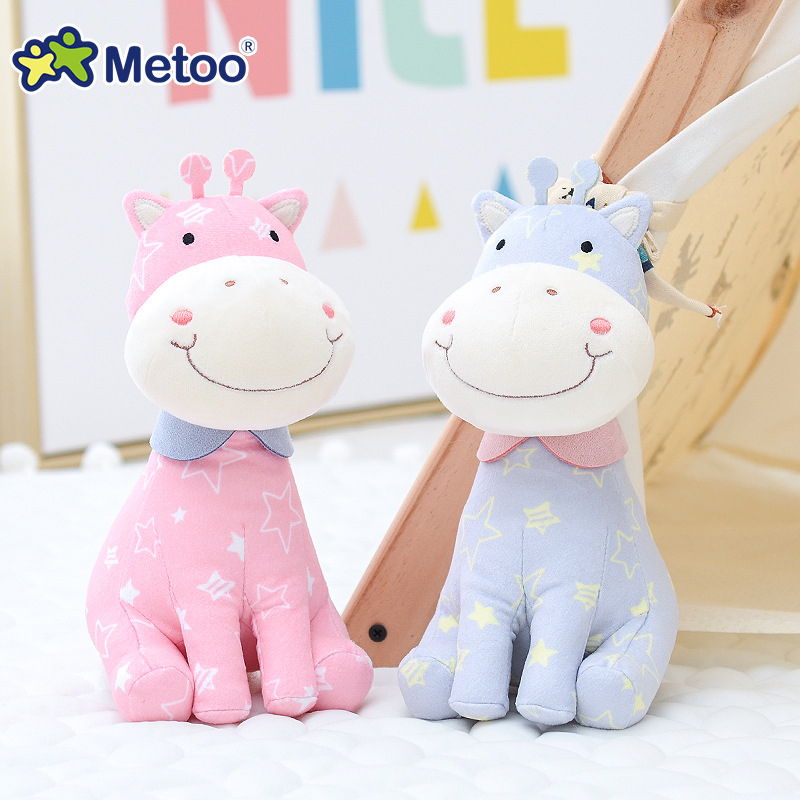 22cm Deer Kawaii Stuffed Plush Animals Cartoon Kids Toys for Girls Children Baby Birthday Christmas Gift Metoo Doll 13 inch kawaii plush soft stuffed animals baby kids toys for girls children birthday christmas gift angela rabbit metoo doll