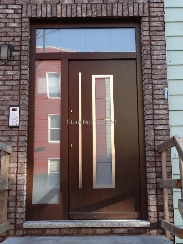 166 70 Inches 1800mm Modern Stainless Steel Entrance Entry Front