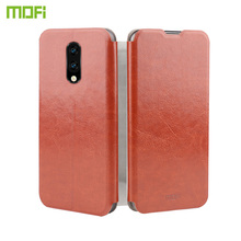 MOFi For OnePlus 7 Case Flip PU Leather Cell Phone Stand Soft Back Book Cover
