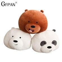 1pc 30cm Cheap Price Bare bears Cartoon Bear Stuffed Plush Toy White Brown Bear Panda Birthday Gift for Kids Children Baby Girl