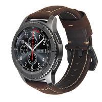 20mm 22mm Echtes Leder armband Band für Samsung Getriebe S3 S2 Galaxy 42/46mm aktive für Amazfit Stratos 2 2S armband bands