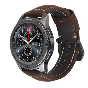 20mm 22mm Genuine Leather watch strap Band for Samsung Gear S3 S2 Galaxy 42/46mm active Amazfit Stratos 2 2S bracelet bands - discount item  37% OFF Watches Accessories