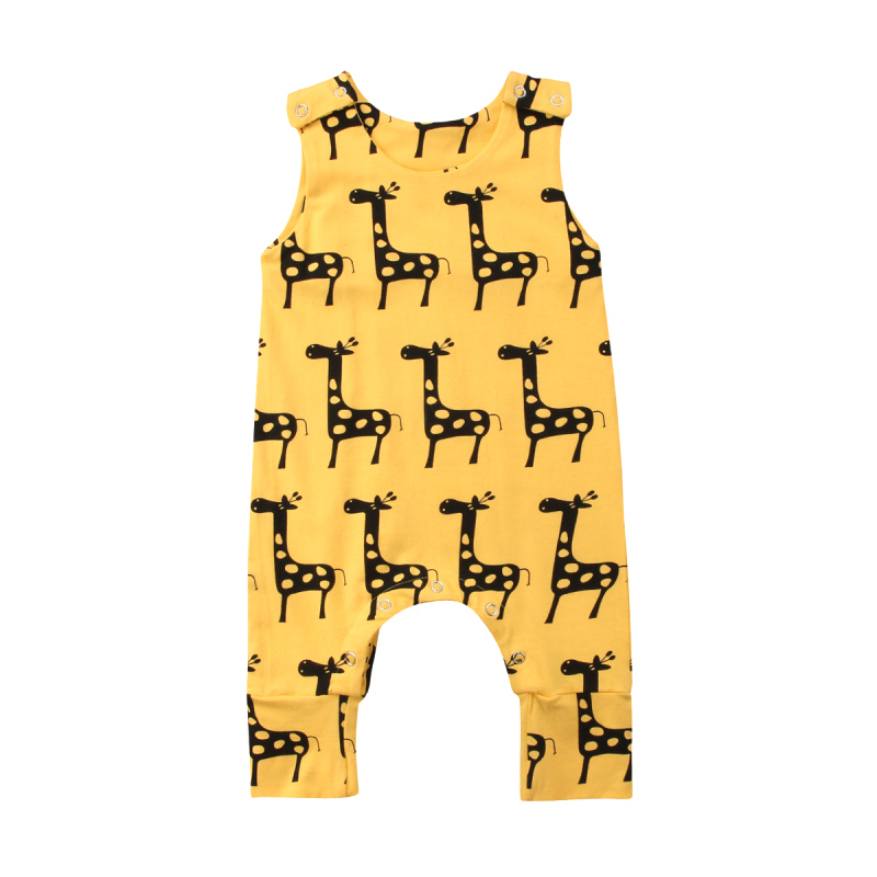 Brand New 0-24M Cute Newborn Baby Boy Girl Sleeveless Cartoon Animal Cotton   Romper   Jumpsuit Outfits Summer Clothes 0-2 Years
