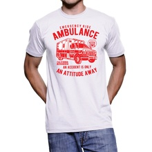 2019 nueva camiseta de verano UOMO VINTAGE ambulancia ilustración Cool hombres camiseta