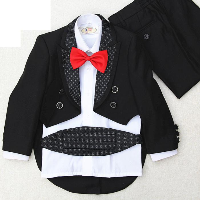 Fashion Dress Boy Dress Costumes For Children Hosted Tuxedo Suit-- 4 pieces jacket+pants+waist cover+ red bow tie+black bow tieFashion Dress Boy Dress Costumes For Children Hosted Tuxedo Suit-- 4 pieces jacket+pants+waist cover+ red bow tie+black bow tie