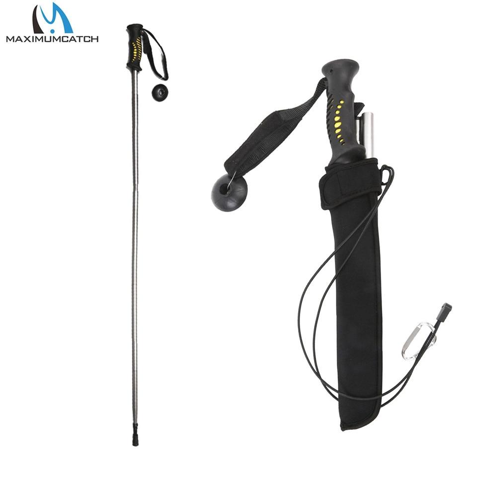 Maxcatch aliuminio / anglies pluošto sulankstomas pėsčiųjų Wading darbuotojai Žvejybos Stick žvejybos reikmenys